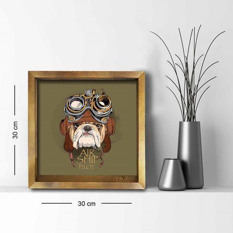 Resim  Özgül 3030AHS032 Ahşap Çerçeveli Tablo - 30x30 cm