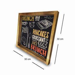 Özgül 3030AHS039 Ahşap Çerçeveli Tablo - 30x30 cm