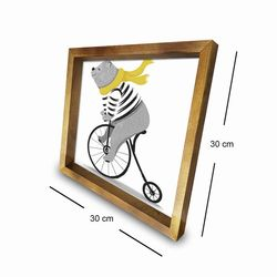 Özgül 3030AHS042 Ahşap Çerçeveli Tablo - 30x30 cm