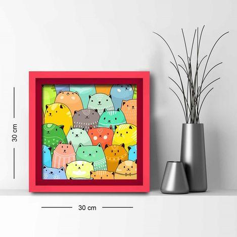 Özgül Grup 3030AHS057 Ahşap Çerçeveli Tablo - 30x30 cm