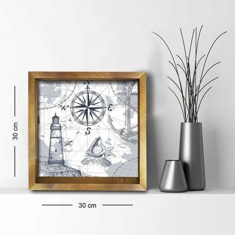 Resim  Özgül 3030AHS073 Ahşap Çerçeveli Tablo - 30x30 cm