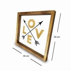 Özgül 3030AHS0102a Ahşap Çerçeveli Tablo - 30x30 cm
