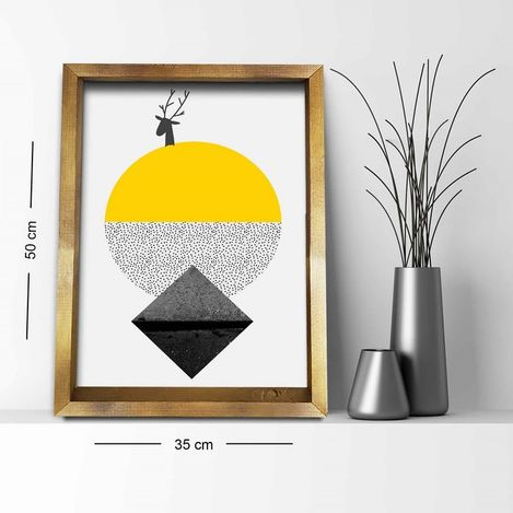 Resim  Özgül Grup 3550AHS036 Ahşap Çerçeveli Tablo - 30x30 cm
