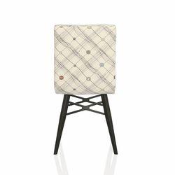 Seduna Duru İlik Desen Mutfak Sandalyesi - Krem/Beyaz