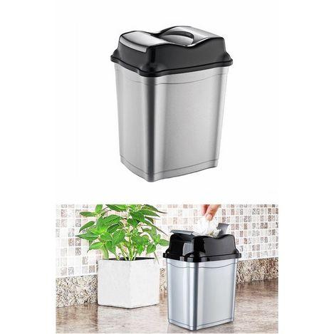 Patrix Tezgah Üstü Çift Kapaklı Çöp Kovası - Asorti