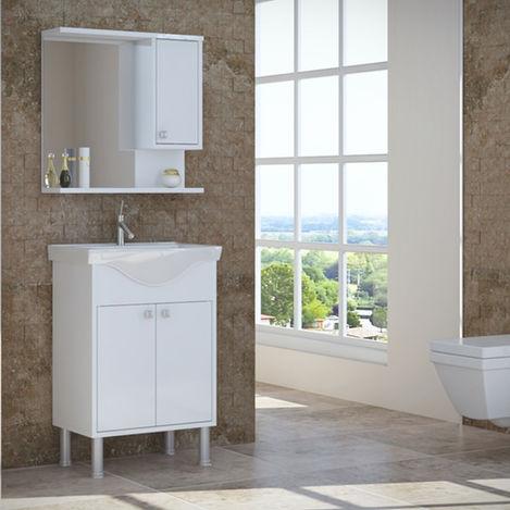 Resim  House Line Brano Lavabolu Banyo Dolabı (60 cm) - Beyaz