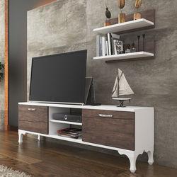 Just Home Siesta Tv Ünitesi - Beyaz / Ceviz