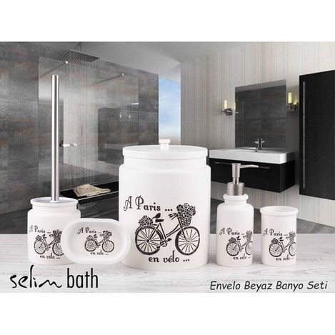 By Selim Envelo 5'li Banyo Seti - Beyaz