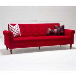 Evdebiz Madona 3'lü Koltuk - Kırmızı