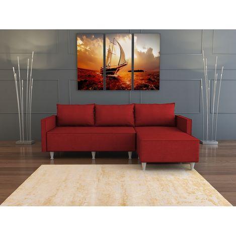 Evdemo Aybüke Köşe Koltuk Takımı - Kırmızı