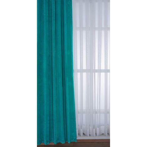 Premier Home 1423 Kadife Fon Perde (Mavi) - 140x270 cm