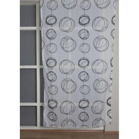 Premier Home 2086 Tül Perde (Siyah/Beyaz) - 140x270 cm