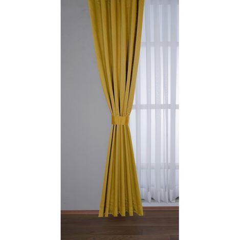 Premier Home 1344 Saten Fon Perde (Sarı) - 140x270 cm