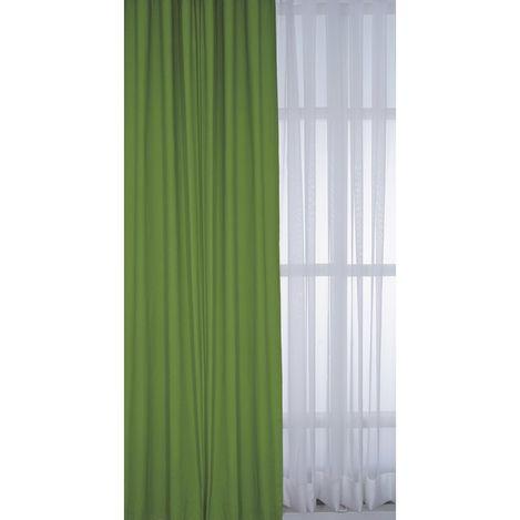 Resim  Premier Home 1387 Duck Fon Perde (Yeşil) - 140x270 cm