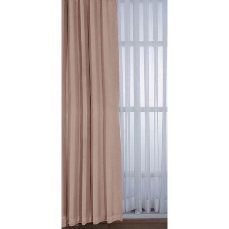 Resim  Premier Home 1350 Blackout Karartma Fon Perde (Pembe) - 140x270 cm