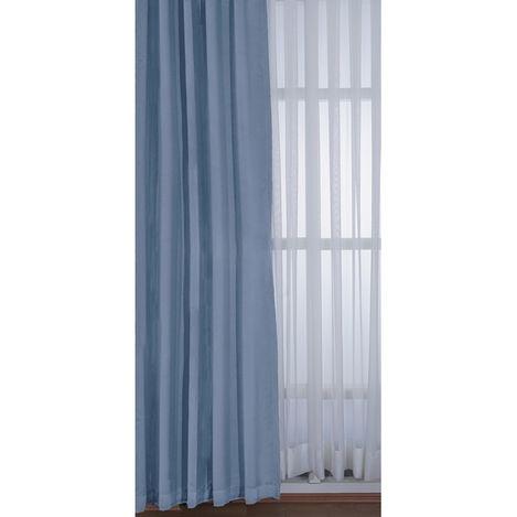 Resim  Premier Home 1355 Blackout Karartma Fon Perde (Mavi) - 140x270 cm