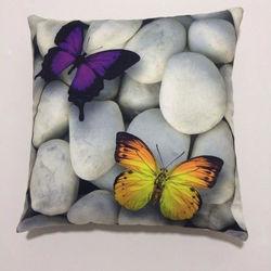 Nevresim Dünyası 3D Butterfly 2 İçi Dolu Kırlent - 43x43 cm