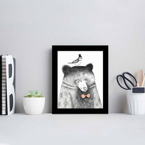 Resim  Özgül SCT-010 Siyah Çerçeveli Tablo - 23,5x28,5 cm