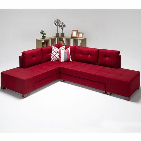 Resim  Evdebiz Manama Stil Sol Köşe Koltuk - Kırmızı