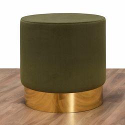 Evdebiz Leon Prinç Metal Puf - Yeşil