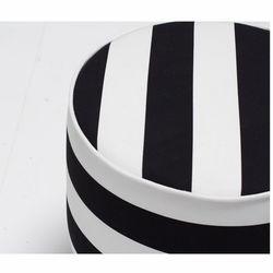 Evdebiz Fındık Puf  - Siyah/Beyaz