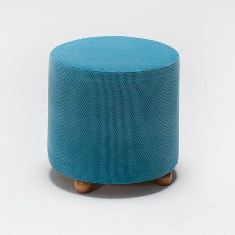 Resim  Evdebiz Mario Ahşap Ayaklı Puf - Mavi