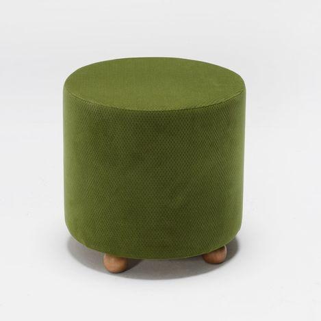 Resim  Evdebiz Mario Ahşap Ayaklı Puf - Yeşil