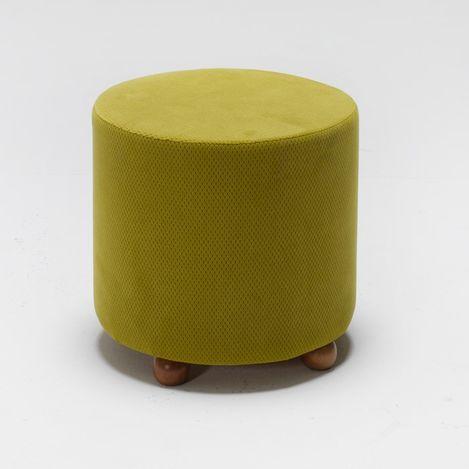 Resim  Evdebiz Mario Ahşap Ayaklı Puf - Sarı