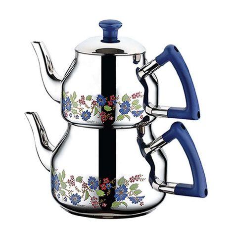 Resim  Özkent 314 Marmaris Mini Çaydanlık - Mavi
