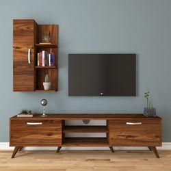 Rani A9-321 Duvar Raflı Kitaplıklı Tv Ünitesi - Ceviz