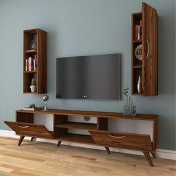 Rani A9 M10 Duvar Raflı Kitaplıklı Tv Ünitesi - Ceviz