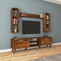 Rani A9 M5 Duvar Raflı Kitaplıklı Tv Ünitesi - Ceviz