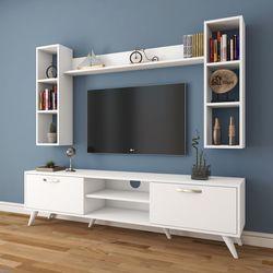 Rani A9-239 Duvar Raflı Kitaplıklı Tv Ünitesi - Beyaz