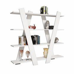 Rani X1 4 Raflı Dekoratif Kitaplık / Modern Duvar Rafı - Beyaz