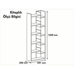 Rani K3 6 Raflı Tasarım Kitaplık - Beyaz