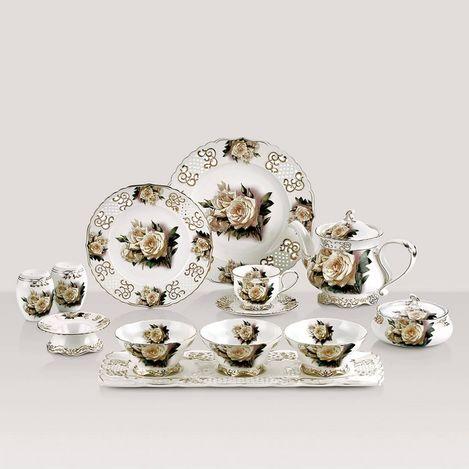 Güral Porselen 40 Parça Prestij Bone Kahvaltı Seti
