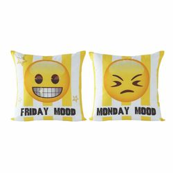 Taç Emoji Mood Kırlent - 40x40 cm