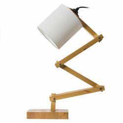Safir Light  554 Ahşap Geometrik Masa Lambası