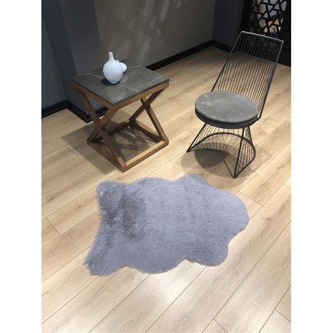 Resim  Marka Ev Tavşan Tüyü Post Gri - 70X100 cm