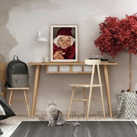 Resim  Mymob Betong Plus Soomin Çalışma Masası - Altın Meşe/Gri