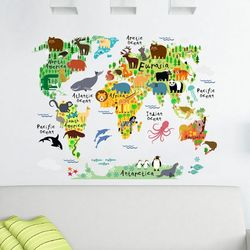 Tilk Dünyası 74933 Eğitici Dünya Haritası Sticker