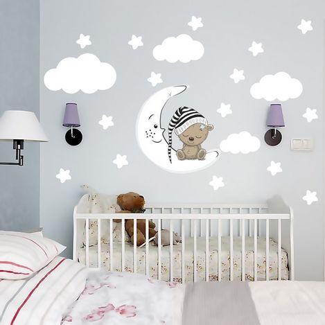 Tilki Dünyası 74983 Bulutlar ve Yıldızlar Duvar Sticker