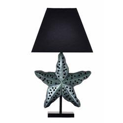 Qdec Modern Dizayn Deniz Yıldızı Abajur - Zümrüt / Siyah