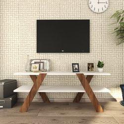 House Line Box Tv Ünitesi - Beyaz / Ceviz