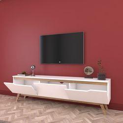 Rani D1 Ahşap Ayaklı Tv Sehpası - Ceviz / Beyaz