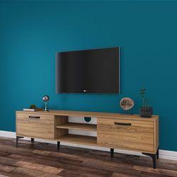 Rani A10 Metal Ayaklı Tv Sehpası - Ceviz