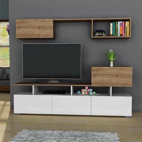 Resim  Derya Dekor Lion TV Sehpası - Beyaz/Ceviz
