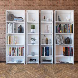 Eyibil Mobilya Linda 4'lü Modern Arkalıklı Kitaplık - Beyaz
