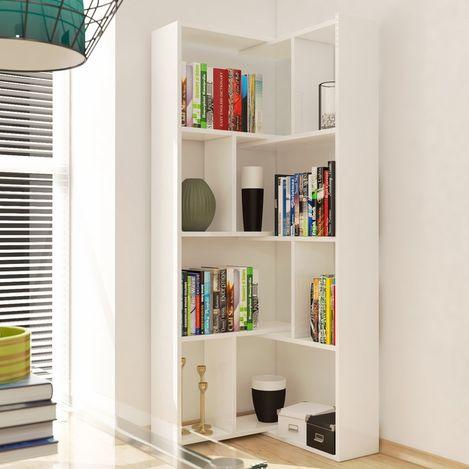Eyibil Mobilya Liya Hareketli Köşe Kitaplık - Beyaz