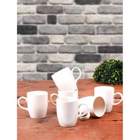 Keramika 6'lı Mat Transfaran Beyaz Bulut Kupa - 9 cm